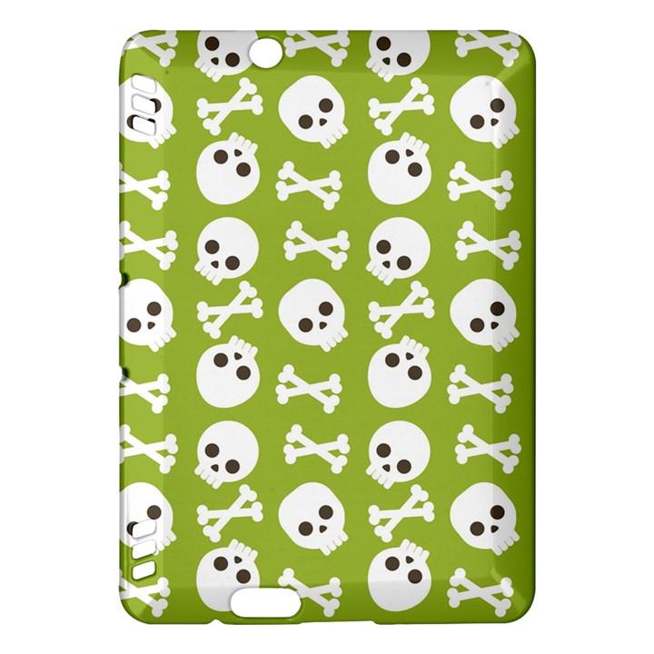 Skull Bone Mask Face White Green Kindle Fire HDX Hardshell Case