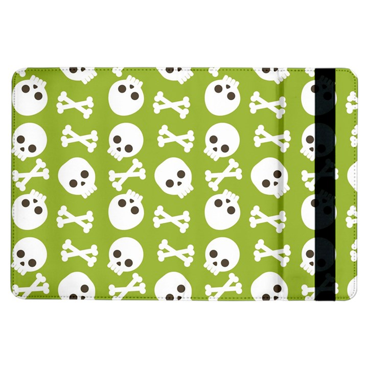 Skull Bone Mask Face White Green iPad Air Flip