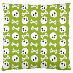 Skull Bone Mask Face White Green Standard Flano Cushion Case (one Side) by Alisyart