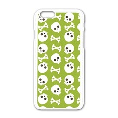 Skull Bone Mask Face White Green Apple Iphone 6/6s White Enamel Case by Alisyart