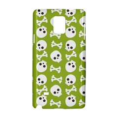 Skull Bone Mask Face White Green Samsung Galaxy Note 4 Hardshell Case