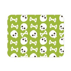 Skull Bone Mask Face White Green Double Sided Flano Blanket (mini)  by Alisyart