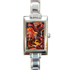 Lava Active Volcano Nature Rectangle Italian Charm Watch