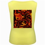 Lava Active Volcano Nature Women s Yellow Tank Top Back