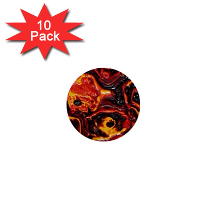 Lava Active Volcano Nature 1  Mini Buttons (10 pack)