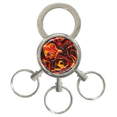 Lava Active Volcano Nature 3 Ring Key Chains by Alisyart