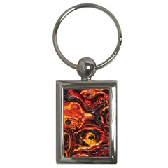 Lava Active Volcano Nature Key Chains (rectangle)  by Alisyart