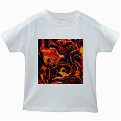 Lava Active Volcano Nature Kids White T Shirts