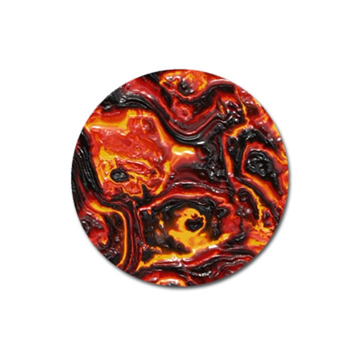 Lava Active Volcano Nature Magnet 3  (Round)