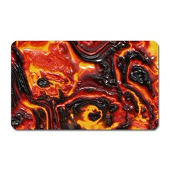 Lava Active Volcano Nature Magnet (rectangular) by Alisyart