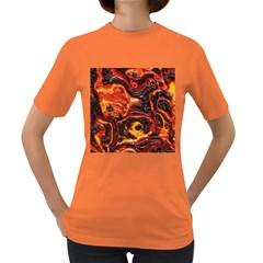Lava Active Volcano Nature Women s Dark T Shirt by Alisyart