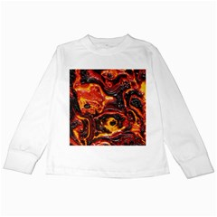 Lava Active Volcano Nature Kids Long Sleeve T Shirts