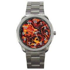 Lava Active Volcano Nature Sport Metal Watch