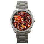 Lava Active Volcano Nature Sport Metal Watch Front