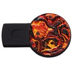 Lava Active Volcano Nature USB Flash Drive Round (4 GB) Front