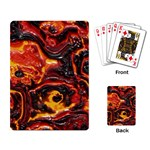 Lava Active Volcano Nature Playing Card Back
