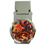 Lava Active Volcano Nature Money Clip Watches Front