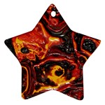 Lava Active Volcano Nature Star Ornament (Two Sides) Front