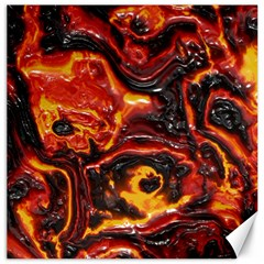 Lava Active Volcano Nature Canvas 16  X 16