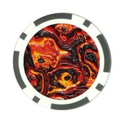 Lava Active Volcano Nature Poker Chip Card Guard