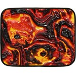 Lava Active Volcano Nature Double Sided Fleece Blanket (Mini)  35 x27 Blanket Front