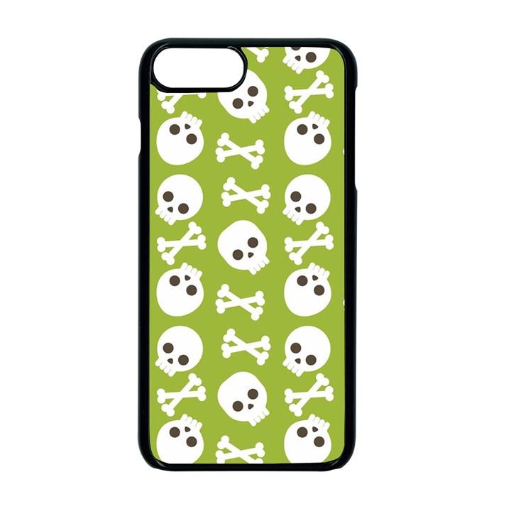 Skull Bone Mask Face White Green Apple iPhone 7 Plus Seamless Case (Black)