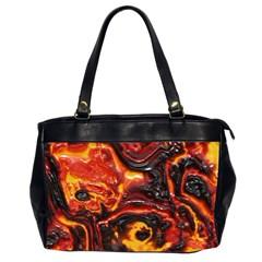 Lava Active Volcano Nature Office Handbags (2 Sides)  by Alisyart