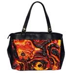 Lava Active Volcano Nature Office Handbags (2 Sides)  Back