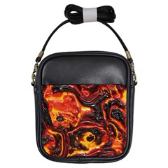 Lava Active Volcano Nature Girls Sling Bags