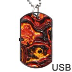 Lava Active Volcano Nature Dog Tag USB Flash (One Side) Front