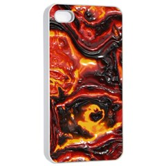 Lava Active Volcano Nature Apple Iphone 4/4s Seamless Case (white) by Alisyart