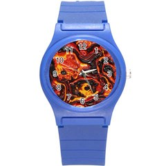 Lava Active Volcano Nature Round Plastic Sport Watch (s) by Alisyart