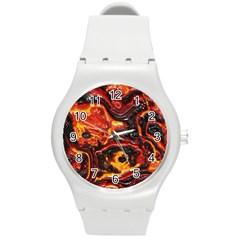 Lava Active Volcano Nature Round Plastic Sport Watch (m)