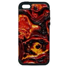 Lava Active Volcano Nature Apple Iphone 5 Hardshell Case (pc+silicone) by Alisyart
