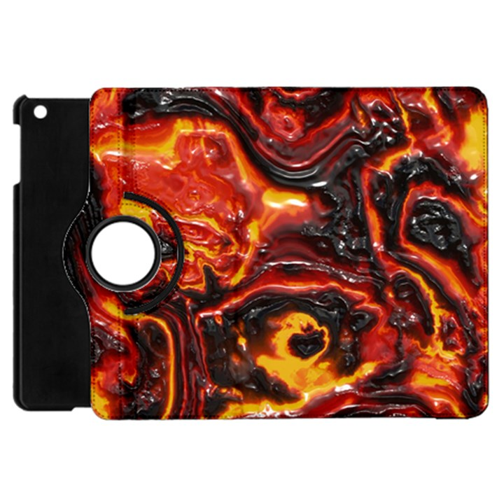 Lava Active Volcano Nature Apple iPad Mini Flip 360 Case