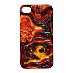 Lava Active Volcano Nature Apple Iphone 4/4s Hardshell Case With Stand by Alisyart