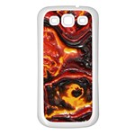 Lava Active Volcano Nature Samsung Galaxy S3 Back Case (White) Front