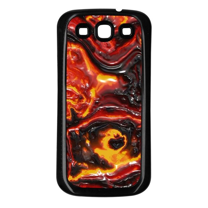 Lava Active Volcano Nature Samsung Galaxy S3 Back Case (Black)