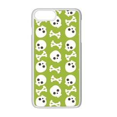 Skull Bone Mask Face White Green Apple Iphone 8 Plus Seamless Case (white)