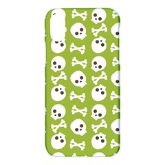 Skull Bone Mask Face White Green Apple Iphone X Hardshell Case