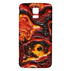 Lava Active Volcano Nature Samsung Galaxy S5 Back Case (white) by Alisyart
