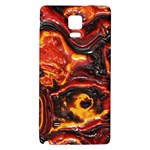 Lava Active Volcano Nature Galaxy Note 4 Back Case Front