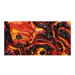 Lava Active Volcano Nature Satin Wrap Front