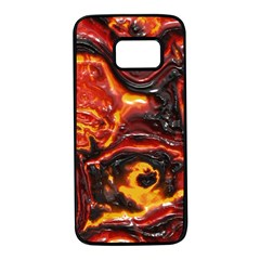 Lava Active Volcano Nature Samsung Galaxy S7 Black Seamless Case by Alisyart