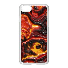 Lava Active Volcano Nature Apple Iphone 7 Seamless Case (white) by Alisyart