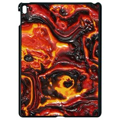 Lava Active Volcano Nature Apple Ipad Pro 9 7   Black Seamless Case by Alisyart