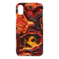 Lava Active Volcano Nature Apple Iphone X Hardshell Case by Alisyart
