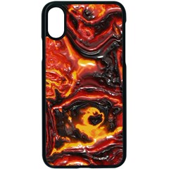 Lava Active Volcano Nature Apple Iphone X Seamless Case (black) by Alisyart
