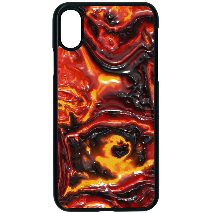 Lava Active Volcano Nature Apple iPhone X Seamless Case (Black)