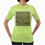 Little Face Women s Green T-Shirt Front